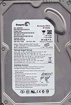 【中古】st3808110as、3lr、AMK、PN 9bd131???301、FW 3。Aad、Seagate 80?GB SATA 3.5ハードドライブ