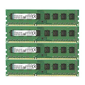【中古】キングストン Kingston デスクトップPC用メモリ DDR3-1333 (PC3-10600) 8GBx4枚 CL9 1.5V Non-ECC DIMM 240pin KVR1333D3N9HK4/32G 永久保証
