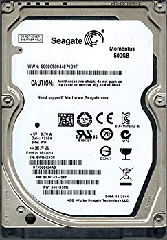 【中古】Seagate st9500424as P/N : 9rw143???567?F/W : 0001bsm1?500?GB WU