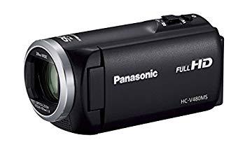 【中古】パナソニック HDビデオカメラ V480MS 32GB 高倍率90倍ズーム ブラック HC-V480MS-K