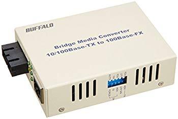 【中古】BUFFALO 光メディアコンバータ 100BASE-TX←→100BASE-FX(SC)変換 シングルモード20km LTR2-TX-SFC20R