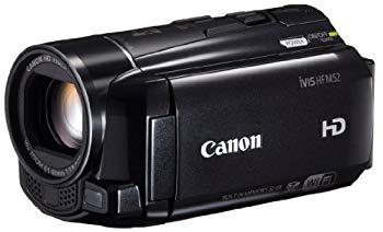 【中古】Canon デジタルビデオカメラ iVIS HF M52 ブラック 光学10倍ズーム フルフラットタッチパネル IVISHFM52BK