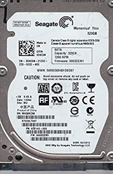 【中古】st320lt007、w0q、Wu、PN 9zv142???032、FW 0003dem1、Seagate 320?GB SATA 2.5ハードドライブ