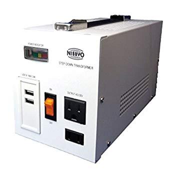 【中古】日章工業 ダウントランス ホワイト 1600W SPXシリーズ USB付 1600W SPX-1600