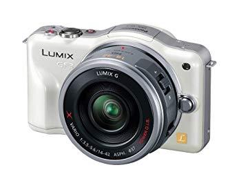 【中古】パナソニック ミラーレス一眼カメラ LUMIX GF3 電動ズームキット シェルホワイト DMC-GF3X-W