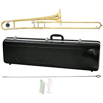 【中古】MAXTONE テナートロンボーン B♭管 8インチベル ゴールドラッカー仕上げ TRB-30 ハードケース付