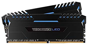 【中古】CORSAIR Vengeance Blue LED DDR4 3200Mhz 16GB (8GBx2) 288pin UDIMM MM3194 CMU16GX4M2C3200C16B