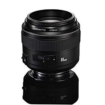 【中古】YONGNUO YN85mm F1.8 AF / MF標準ミディアムプライム固定望遠レンズ / Canon EFマウントレーベルDSLRカメラ用