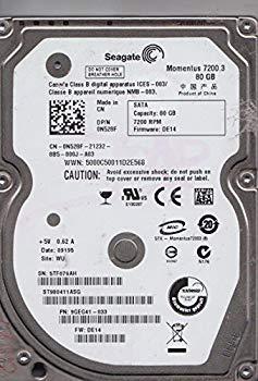 全商品オープニング価格! 【】st980411asg、5tf、Wu、PN 9?geg41???033、FW de14、Seagate 80?GB SATA 2.5ハードドライブ, 通販のネオスチール 0d27fd2c