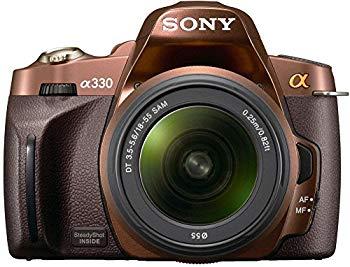 【中古】ソニー SONY デジタル一眼レフカメラ α330 ズームレンズキット ブラウン DSLRA330L/T