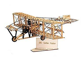 【中古】静的モデル木製DIY表示Curtiss Pusher AEA June Bug 500?mm Wingspan pre-built飛行機PNP建物クラフト木製Furnishing PNP