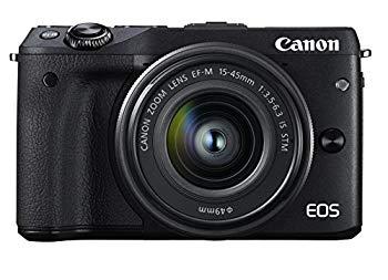 【中古】Canon ミラーレス一眼カメラ EOS M3 レンズキット(ブラック) EF-M15-45mm F3.5-6.3 IS STM 付属 EOSM3BK-1545ISSTMLK
