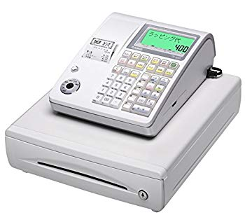 【中古】カシオ計算機 レジスター ホワイト TE-400-WE