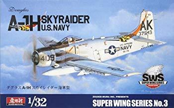 【中古】SWS 1/32 A-1H スカイレイダー 海軍型 プラスチックモデルキット