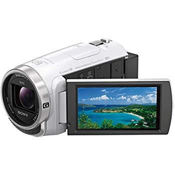 【中古】ソニー SONY ビデオカメラ Handycam HDR-CX680 光学30倍 内蔵メモリー64GB ホワイト HDR-CX680 W