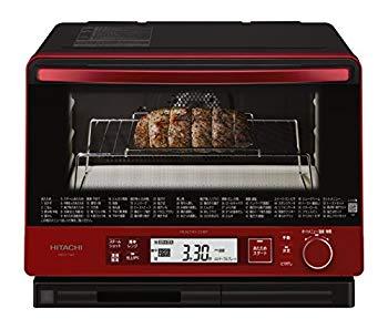 【中古】日立 スチームオーブンレンジ MRO-TW1 R 30L 熱風2段オーブン 過熱水蒸気 Wスキャン調理 ワイド&フラット庫内 外して丸洗いテーブルプレート メ