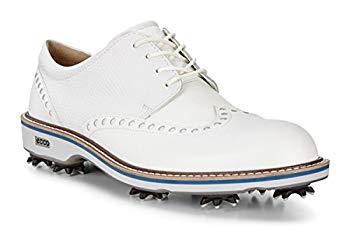 【中古】[エコー] ゴルフシューズ GOLF CLASSIC LUX メンズ WHITE 24.5cm
