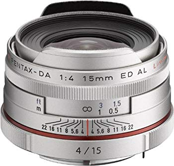 【中古】PENTAX リミテッドレンズ 超広角単焦点レンズ HD PENTAX-DA15mmF4ED AL Limited シルバー Kマウント APS-Cサイズ 21480