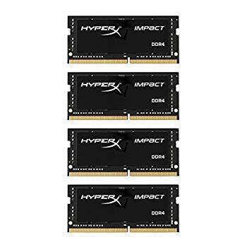 【中古】キングストン Kingston ノートPC用メモリ DDR4-2400 (PC4-19200) 16GBx4枚 CL15 1.2V Non-ECC SODIMM 260pin HX424S15IBK4/64 永久保証