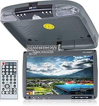【中古】Absolute DFL4008IRG 9.5-Inch TFT-LCD Overhead Flip-Down Monitor with DVD Player and Built-in IR Transmitter (Grey) by Absolute