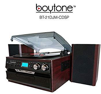 【中古】7-in-1 Boytone BT-21DJM-CDSP Full Size 3 Speed Turntable 33/45/78 Rpm Belt Drive CD Cassette Player AM/FM/ USB/SD Slot Aux Input. Encod