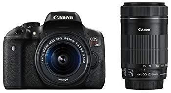 【中古】Canon デジタル一眼レフカメラ EOS Kiss X8i ダブルズームキット EF-S18-55mm/EF-S55-250mm 付属 EOSKISSX8I-WKIT