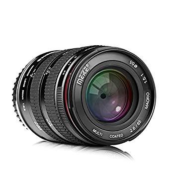 【中古】Meike 85?mm f / 2.8手動フォーカスAspherical Medium望遠フルフレームPrimeマクロレンズで縦機能for Canon EOS EFマウントデジタルDSLRカメラ