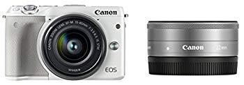 【中古】Canon ミラーレス一眼カメラ EOS M3 ダブルレンズキット(ホワイト) EF-M15-45mm F3.5-6.3 IS STM EF-M22mm F2 STM 付属 EOSM3WH-WLK2