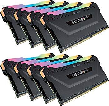 【中古】CORSAIR DDR4-3000MHz デスクトップPC用 メモリモジュール VENGEANCE RGB PRO シリーズ 64GB [8GB×8枚] CMW64GX4M8C3000C15