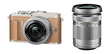 【中古】OLYMPUS ミラーレス一眼カメラ PEN E-PL9 ダブルズームキット ブラウン
