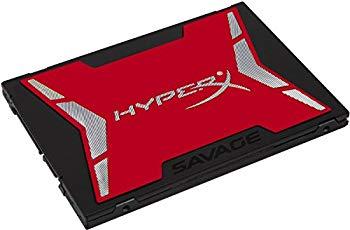 【中古】キングストン Kingston SSD 240GB 2.5インチ SATA3 MLC NAND採用 HyperX SAVAGE SSD 3年保証 SHSS37A/240G