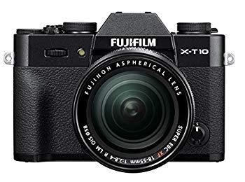 【中古】FUJIFILM ミラーレス一眼 X-T10 レンズキット ブラック X-T10LK-B