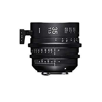 【中古】Sigma T1.5 Cine 35mm フルフレーム ハイスピードプライムレンズ キャノンEFマウント付き、1フィート近接フォーカス距離