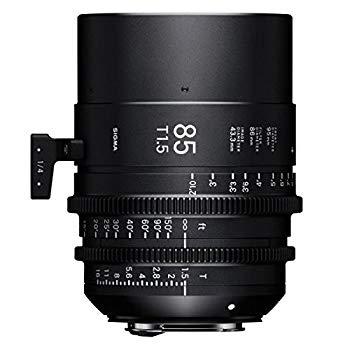 【中古】Sigma T1.5 Cine 85mm フルフレーム 高速プライムレンズ キャノンEFマウント付き 最短焦点距離3フィート