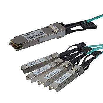 【中古】StarTech.com QSFP+ アクティブ光ブレークアウトケーブル 15m Cisco製QSFP-4X10G-AOC10M互換 40 Gbps - 4 x 10Gbps QSFP4X10AO15