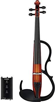 【中古】ヤマハ YAMAHA バイオリン サイレントバイオリン SV250 アコースティックバイオリンと同等の重さとバランスを実現 テールピース、ネック、糸巻き