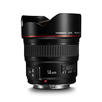 【中古】Yongnuo yn14?mm f2?. 8?ultra-wide角度Prime Lens for Canon DSLRカメラ