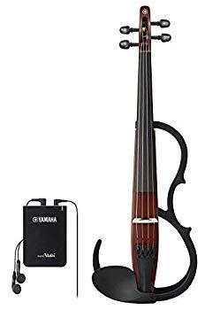 【中古】ヤマハ YAMAHA サイレントバイオリン YSV104BR 練習に最適なベーシックモデル アコースティックバイオリンの胴鳴り感を再現 イヤホン付属