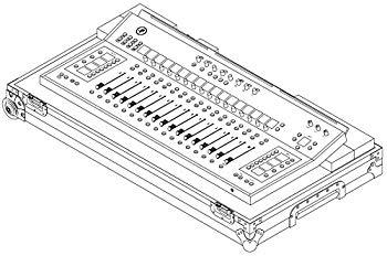 【中古】MACKIE コントロールサーフェスDC16用ツアリングハードケース DC16 Road Case 国内正規品