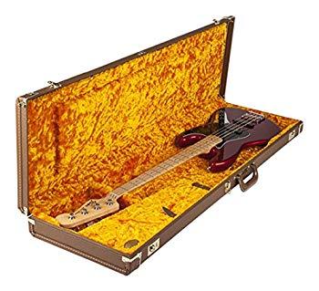 【中古】Fender ハードケース G&G Deluxe Jazz BassR Hardshell Case Brown with Gold Plush Interior
