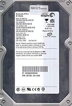 【中古】st340017?a、5?KC、Wu、PN 9?W4004???030、FW 3.31、Seagate 40?GB IDE 3.5ハードドライブ