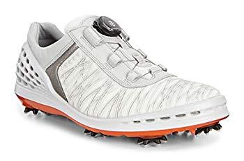 【中古】[エコー] ゴルフシューズ GOLF CAGE メンズ WHITE EU 44(28 cm) 3E