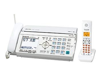 【中古】パナソニック おたっくす デジタルコードレスFAX 子機1台付き ホワイト KX-PW520DL-W