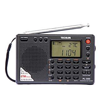 TECSUN 【中古】PL-380オールバンド・デジタル・ラジオ DSP処理(色:ブラック)【日本語説明書】