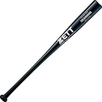【中古】ZETT(ゼット) 野球 一般 木製 トレーニング バット 実打可能 84cm ブラック(1900) BTT17784