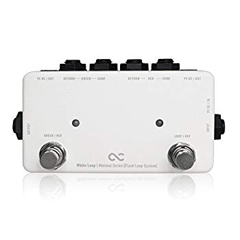 【中古】One Control ワンコントロール Minimal Series エフェクター スイッチャー Flash Loop with 2DC OUT White Loop