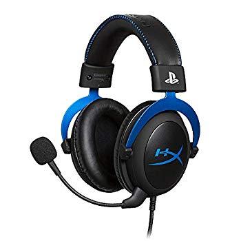 【中古】キングストン Kingston ゲーミングヘッドセット HyperX Cloud HX-HSCLS-BL/AS PS4公式ライセンス インライン音量コントロールBox付属 2年保証