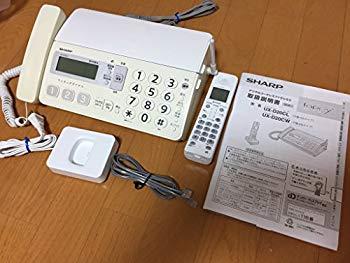 【中古】シャープ デジタルコードレスファックス 子機1台付き ホワイト系 UX-D20CL-W