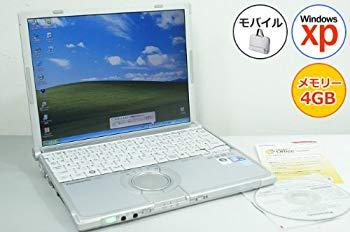 【中古】【中古パソコン】 ノートパソコン Panasonic レッツノート CF-W8 Core2Duo-1.40GHz 4GB 160GB XP搭載 DVD 12.1型 1024x768 無線LAN