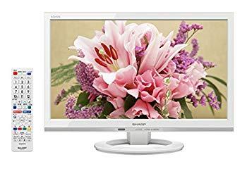 ハイビジョン AQUOS 長時間録画HDD対応2画面表示 USB外付けHDDへの裏番組録画対応 【中古】シャープ 19V型 2015年モデル LC-19K30-W 液晶 テレビ